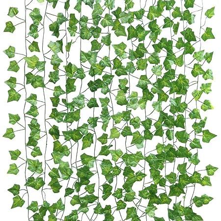 24本緑藤人工観葉植物、お世話不要 プレゼント