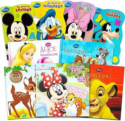 Amazon Com Juego De 9 Libros De Disney Mickey Minnie Mouse Para Niños Pequeños Paquete De 9 Libros De Disney Con Mickey Mouse Minnie Mouse Goofy Donald Duck Y Más Toys Games