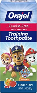 Orajel Paw Patrol Fluoride-Free Training Toothpaste, Fruity Fun Flavor, One 1.5oz Tube: Orajel #1 Pediatrician Recommended...
