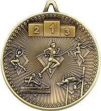 Lapal Dimension Athletics Deluxe Medal - Antiek Goud 6,0 cm Pack van 10