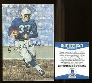 8453823c9 Doak Walker Signed Goal Line Art GLAC Autographed Lions Beckett BAS F96214  - Beckett Authentication -