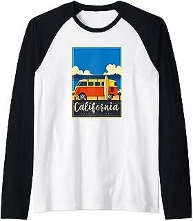 California Surfing Mavericks Half Moon Bay Summer Surf Gift Raglan Baseball Tee