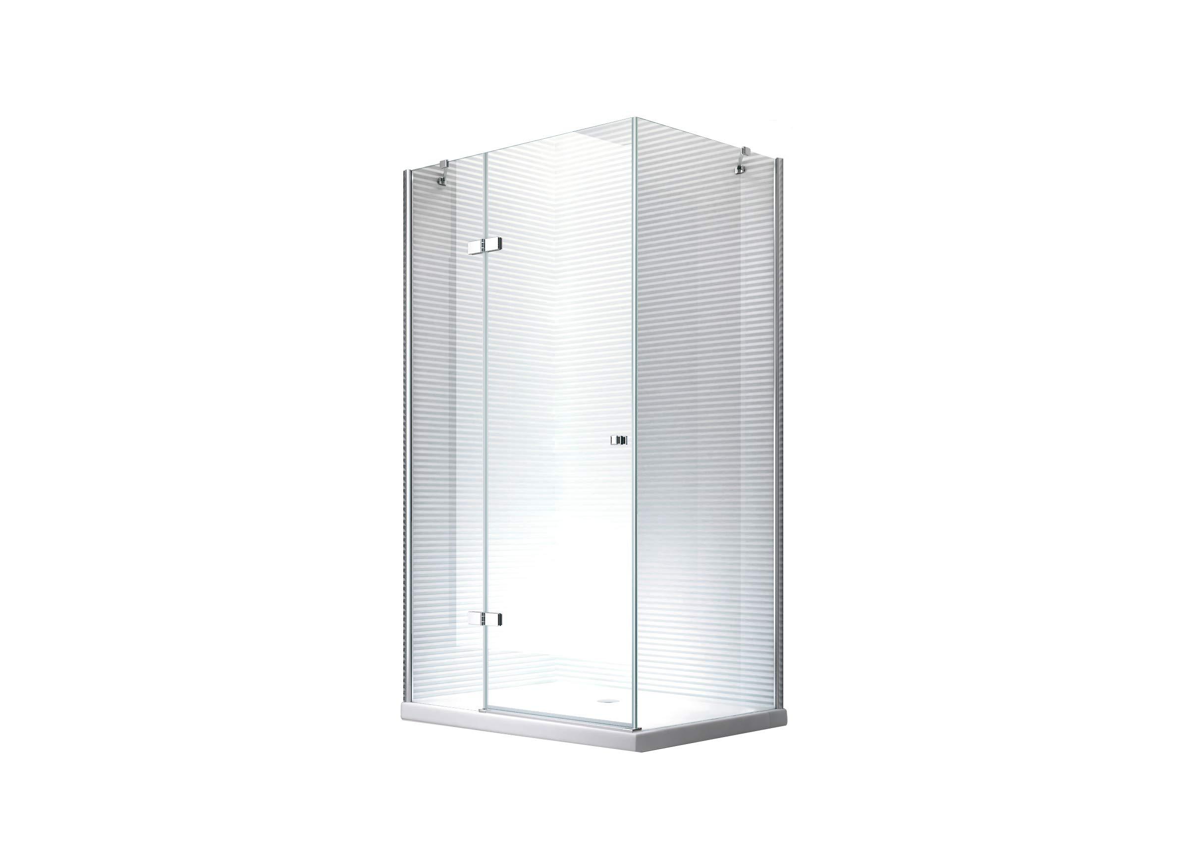 Cabina de ducha - mampara de ducha Hestia 90 x 120 x 195 cm - 8 mm - con plato de ducha: Amazon.es: Bricolaje y herramientas