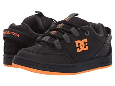 DC Kids Syntax (Little Kid/Big Kid) (Black/Fluorescent Orange) Boys Shoes