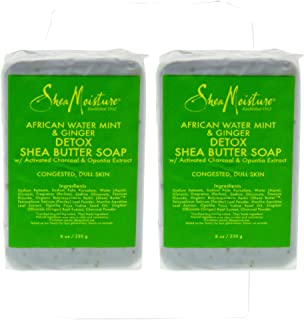 Shea Moisture African Water Mint And Ginger Detox Shea Butter Soap For Unisex, 8 Oz.
