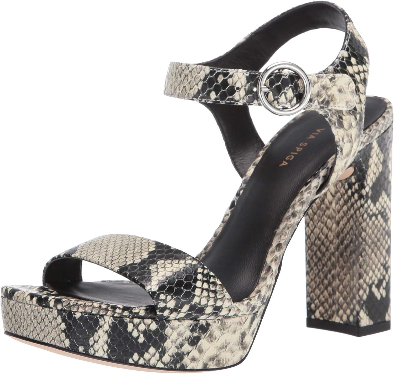 VIA SPIGA Women's V Saville Strappy Heeled Sandal