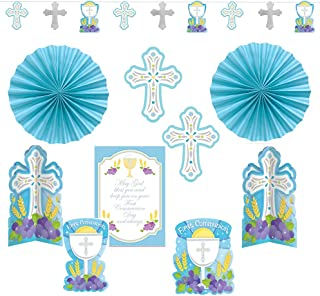 amscan First Communion Blue Paper Decorating Kit, 10 Ct.   Party Decoration