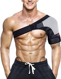 Shoulder Stability Brace Breathable Neoprene Shoulder Support with Pressure Pad For Fitness Sports Adjustable Size Left Sh...
