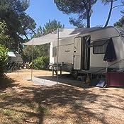 Sonnenvordach Playa 450 X 240 Cm Grau Auto