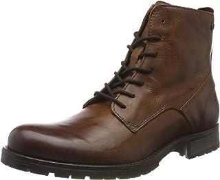 Jack & Jones Jfworca Leather Boot Cognac Noos, Bottes & Bottines Classiques Homme