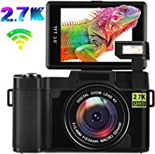 Digital Camera Vlogging Camera 2.7K Full HD 24MP WiFi...