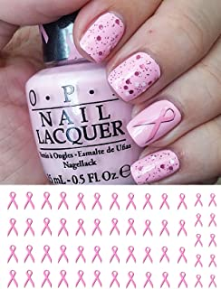 Breast Cancer Awareness Rbbons Water Slide Nail Art Decals