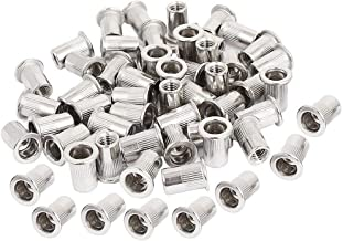 50pcs M5 Rivet Nuts Stainless Steel Threaded Insert Nutsert Rivnuts M5