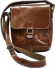 Jack Georges Bridle Collection Flap Messenger Bag