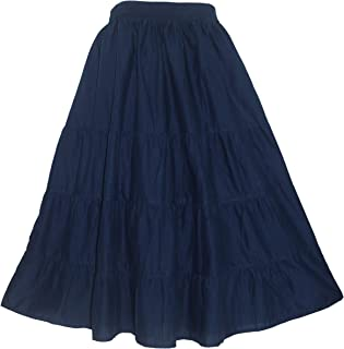 Beautybatik Cotton Boho Gypsy Long Maxi Tier Skirt Plus Size 18 20 22