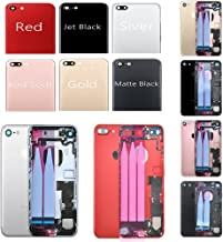 """Full Rear Housing Battery Door for iPhone 7 Plus 5.5"""" with Logo Hybrid Metal Back Cover Replacements with Free Tools,Jet B..."""
