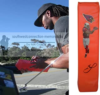 Larry Fitzgerald Arizona Cardinals Autographed Hand Signed AZ Cardinals Full Size Photo Football Touchdown End Zone Pylon with Exact Proof Photo of Signing and COA- Pitt University Pittsburgh Panthers
