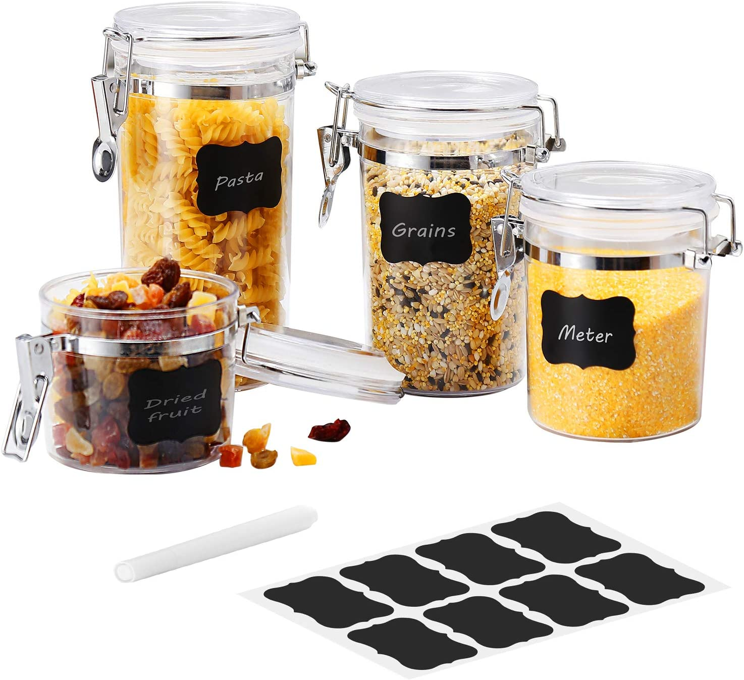 Airtight Acrylic Canister Max 69% OFF Set of 4 Storage Food - Farochy Super intense SALE A Jar