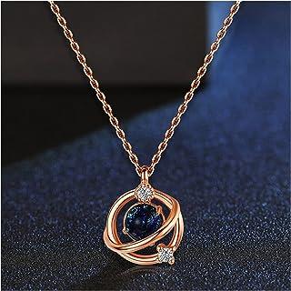 Necklace الكوكب قلادة المرأة الاسترليني الفضة ضوء الفاخرة قلادة الترقوة القلائد القلائد للنساء Simple necklace