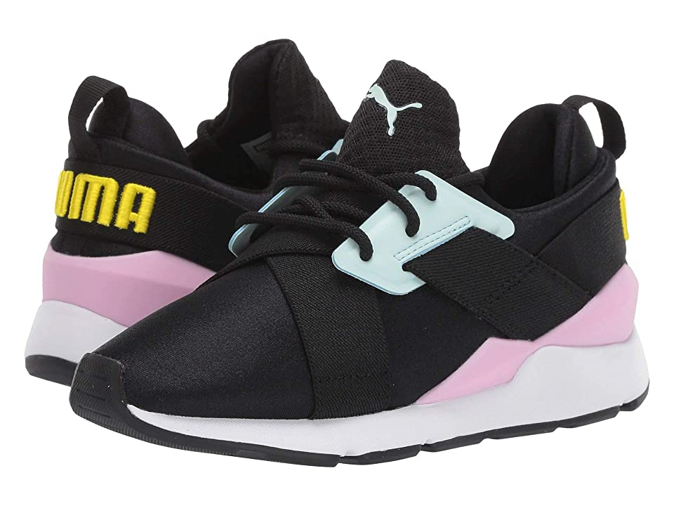 Puma Kids Muse (Little Kid) (Puma Black/Pale Pink) Girl