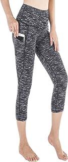SouqFone Women High Waist Yoga Pants with Pockets 4 Ways Stretch Workout Leggings