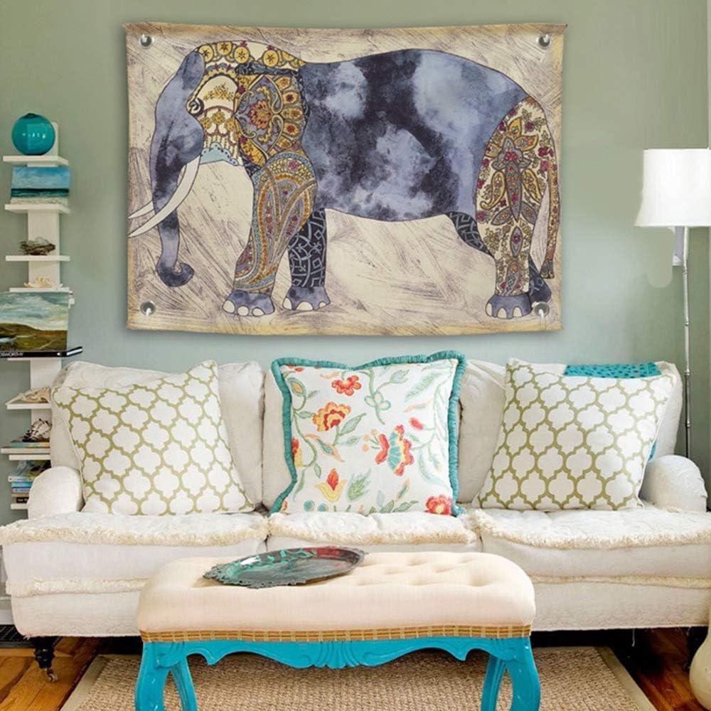 Amazon.com: QINSHAN Tapestry Vintage Tapestry Fabric Elephant
