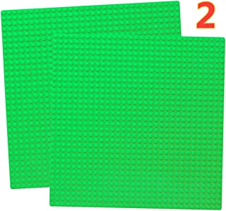 "10"" x 10"" Base Plate Set Compatible with Classic Baseplate Plates Green Board Mat"