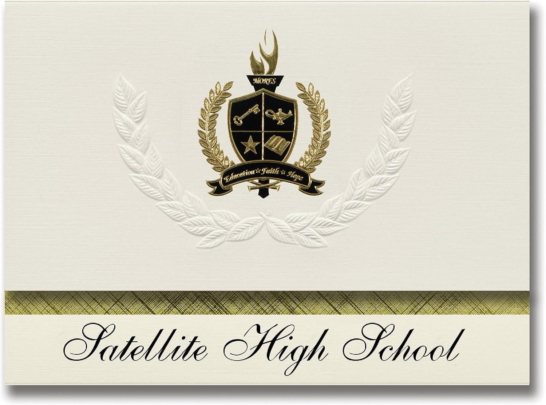 Signature Signature Signature Ankündigungen Satellite High School (Seattle, WA) graduiert Ankündigungen, 25 Pack mit Gold & Schwarz Metallic Folie Dichtung, 15,9 x 29,1 cm creme (Pac _ basicpres _ HS25 _ 153069 _ 206041) B0794W1PL4 | Feinbearbeitung  fc9b49