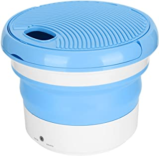 Mini Washing Machine, 7L Large Capacity Portable Washing Machine Lightweight Blue Collapsible for(British regulations (10...