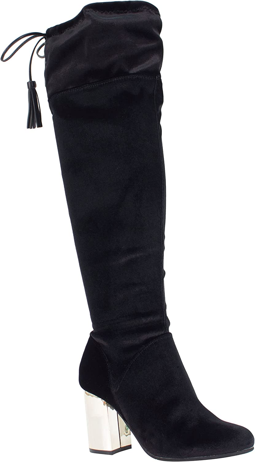 J. Renee Women's Calcari Boot (7.5 M US, Black Velvet)