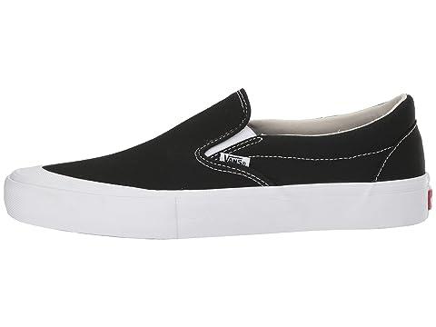 Cap Blanco Toe Slip On Negro Vans Pro 80SxqOIwnv