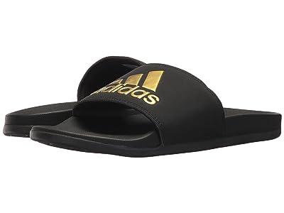 adidas Adilette Comfort (Black/Gold/Black) Women