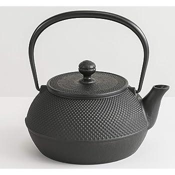 岩鋳 Iwachu 鉄瓶 7型アラレ(IH対応) 黒焼付 0.9L 南部鉄器 11960