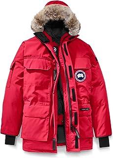 [カナダグース] CANADA GOOSE Men`s Expedition Relaxed Fit Genuine Coyote Fur Trim Down Jacket メンズパーカー [Red] [並行輸入品]