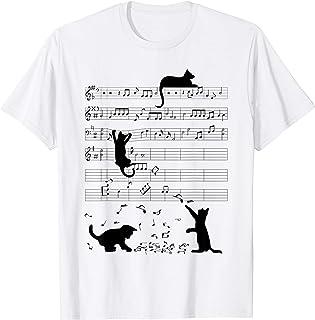 Lustige Ironische Katzen Sprüche Niedliche Katzen Kätzchen Musiknote Notenschlüssel Musiker T-Shirt