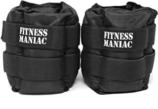 FITNESS MANIAC New Ankle Weight Adjustable Strap Wrist Weights 16 Lbs (2 X 8 Lbs) Ankle Weights (Shipping from USA)