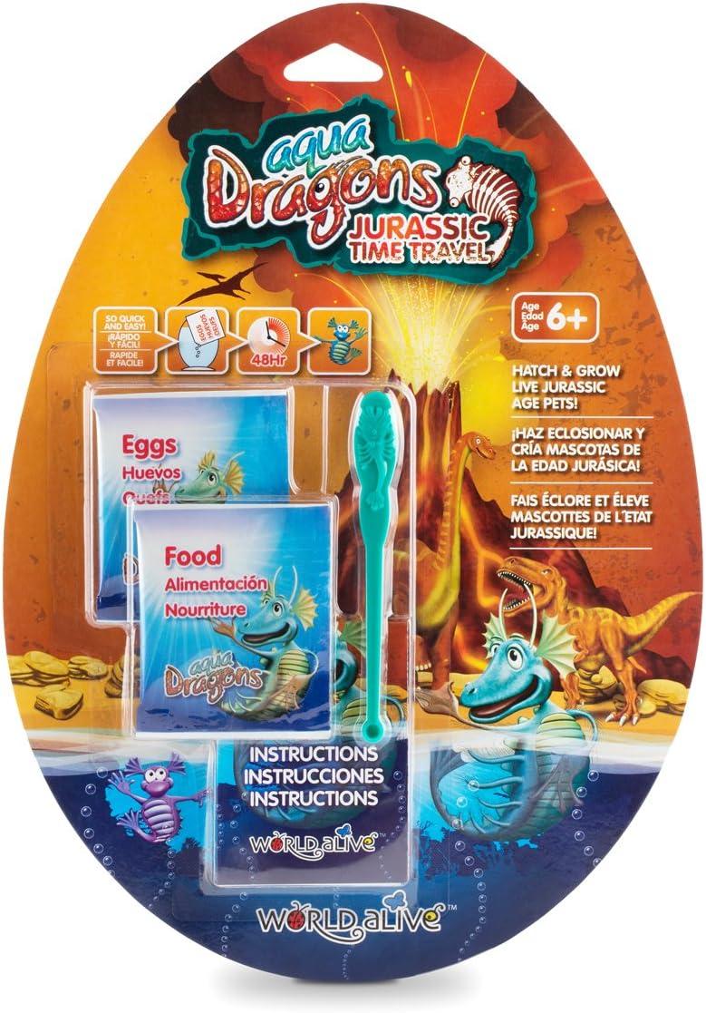Aqua Dragons- Viaje al Periodo Jurásico Juguete educativo, Multicolor (World Alive 4009) , color/modelo surtido
