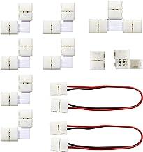 MYPLUS 3528 2Pin LED Strip Lights Connector Kit, Strip to Strip Solderless Connector, 2X LED Strip Jumper, 6X L Shape Conn...