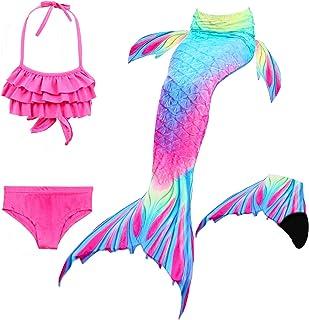 comprar comparacion Le SSara Las Muchachas Cosplay Traje de baño Sirena Shell Traje de baño 3pcs Bikini Conjuntos