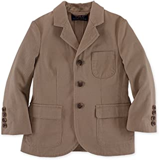 RALPH LAUREN Boys' Langley Cotton Military Sport Suit Jacket