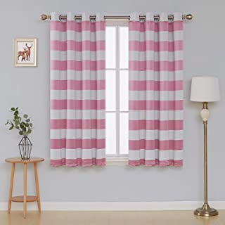 Best pink and white striped curtains Reviews