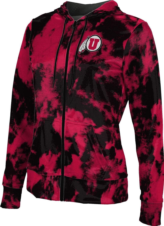 ProSphere University of Utah Girls' Zipper Hoodie, School Spirit Sweatshirt (Grunge)