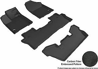 3D MAXpider L1HD08401509 Black All-Weather Floor Mat for Select Honda Pilot Elite Models Complete Set