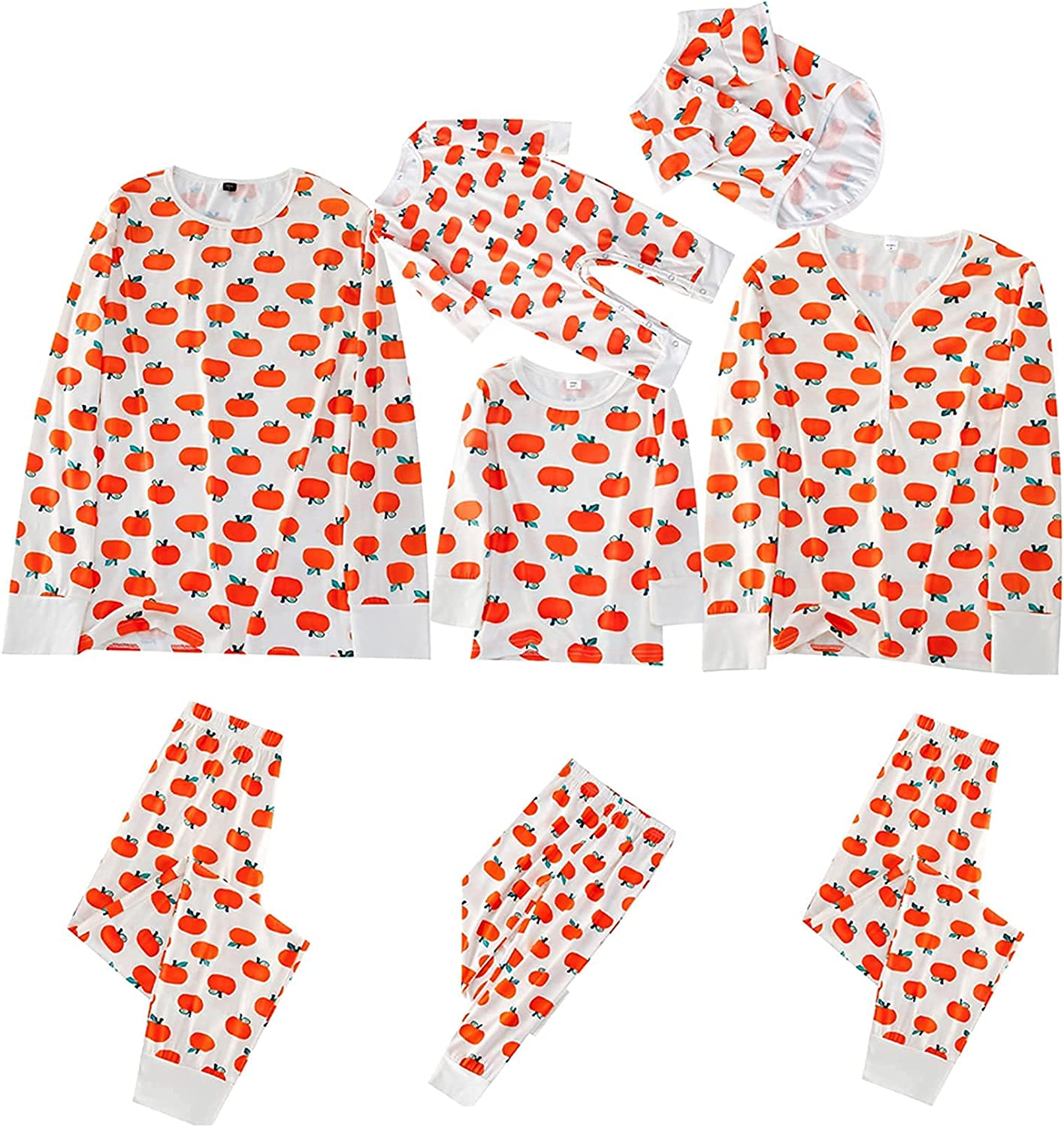 Family Matching Pajamas Halloween Super sale period limited Outfit Long Pri Sleeve Pumpkin low-pricing