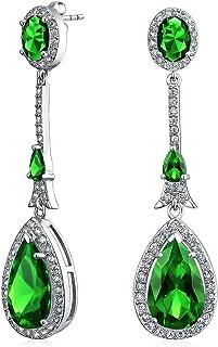 Art Deco Long Teardrop Statement AAA CZ Chandelier Dangle Earrings