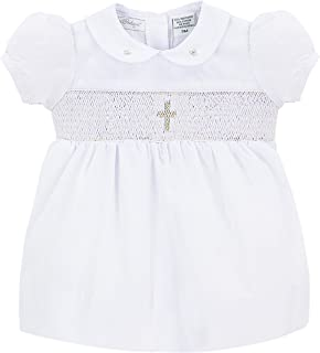 Baby Girls Christening Smocked Cross Dress