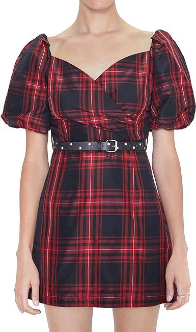 Zara 8154/279 Vestido a Cuadros con cinturón para Mujer ...