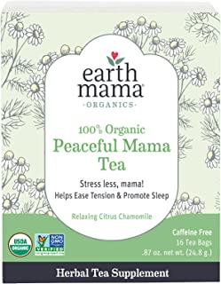 کیسه های چای مادران ارگانیک Earth Mama Organic Peaceful for Pregnancy and Beyond، 16-Count