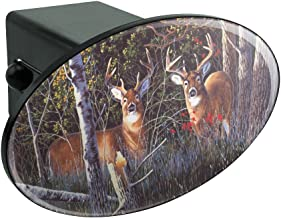 Graphics and More Deer in The Woods Oval Tow Hitch Cover Trailer Plug Insert 2
