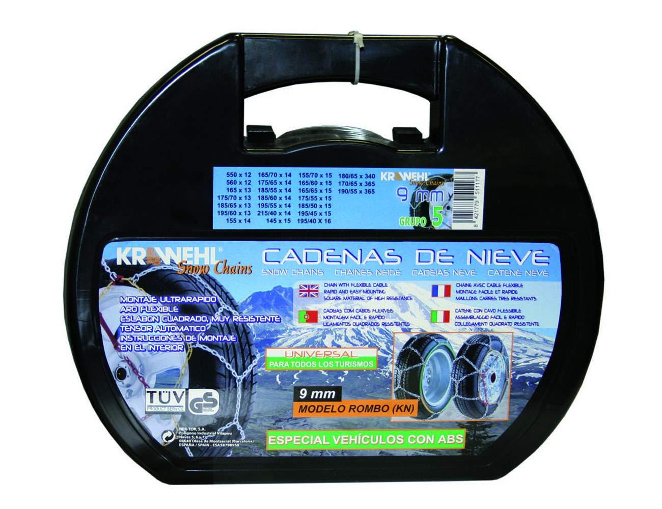 Cadenas de Nieve Tipo Rombo Universal - KRAWEHL - Ø 9mm - con ...